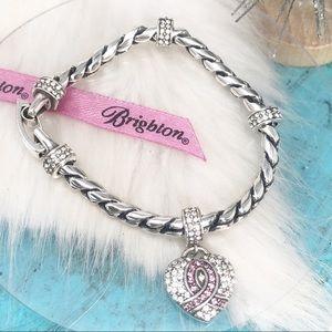 Brighton Power of Pink Spread Love Charm Bracelet